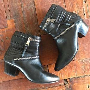 Steve Madden Zipper Boot Ramodi Studded Leather